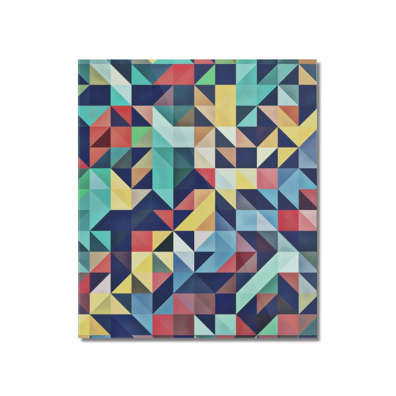 MODERN COLORFUL RETRO GEOMETRIC Home Mounted Acrylic Print by fruityshapes's Shop