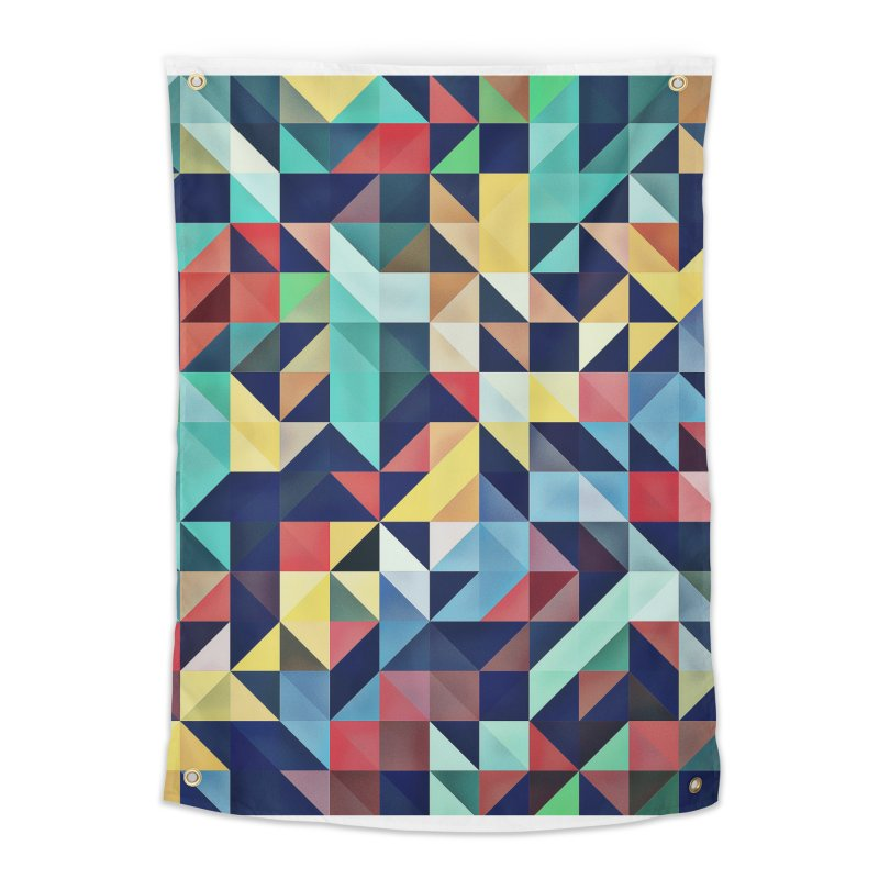 MODERN COLORFUL RETRO GEOMETRIC Home Tapestry by fruityshapes's Shop
