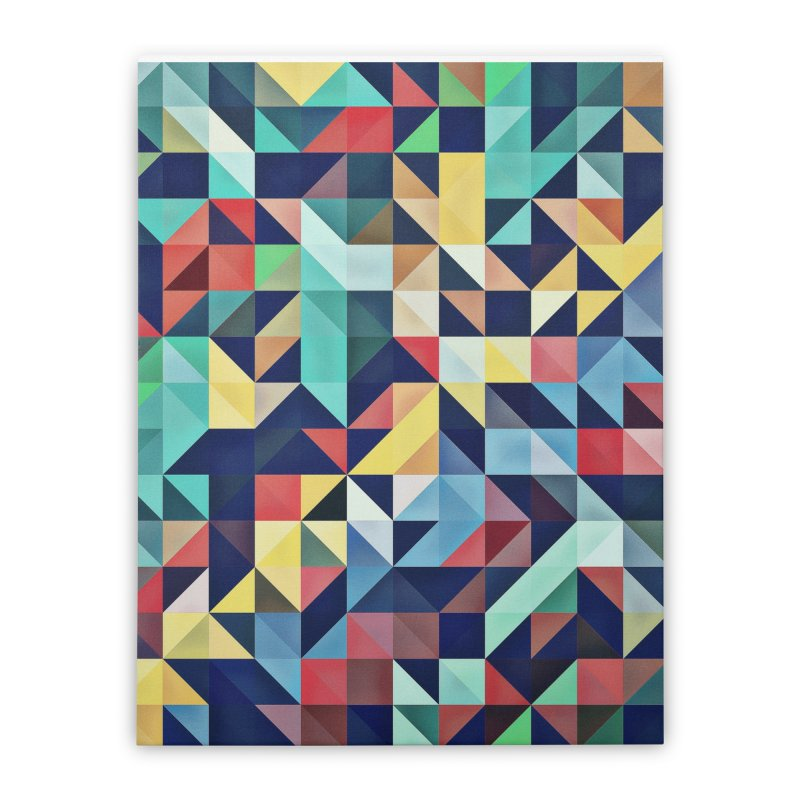 MODERN COLORFUL RETRO GEOMETRIC Home Stretched Canvas by fruityshapes's Shop