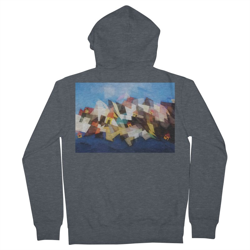 Little city Women's French Terry Zip-Up Hoody by fruityshapes's Shop