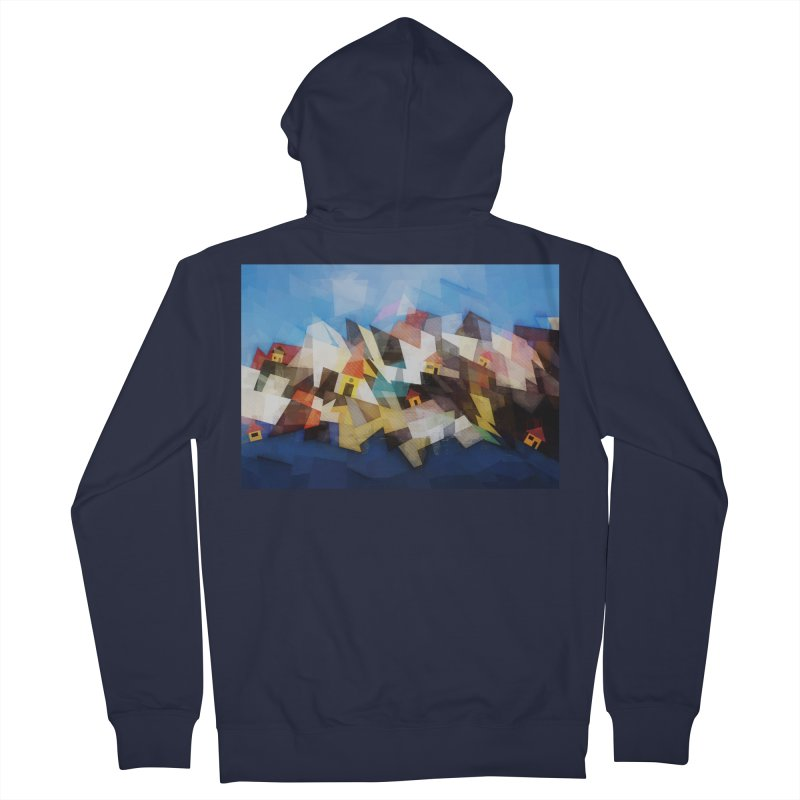 Little city Men's French Terry Zip-Up Hoody by fruityshapes's Shop