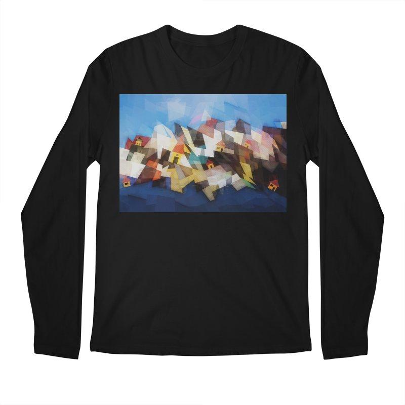 Little city Men's Regular Longsleeve T-Shirt by fruityshapes's Shop