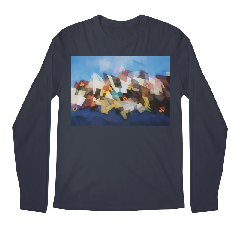 Little city Men's Regular Longsleeve T-Shirt by fruityshapes's Shop