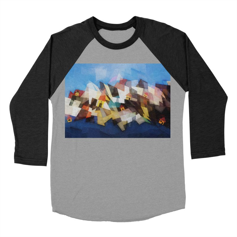 Little city Women's Baseball Triblend Longsleeve T-Shirt by fruityshapes's Shop