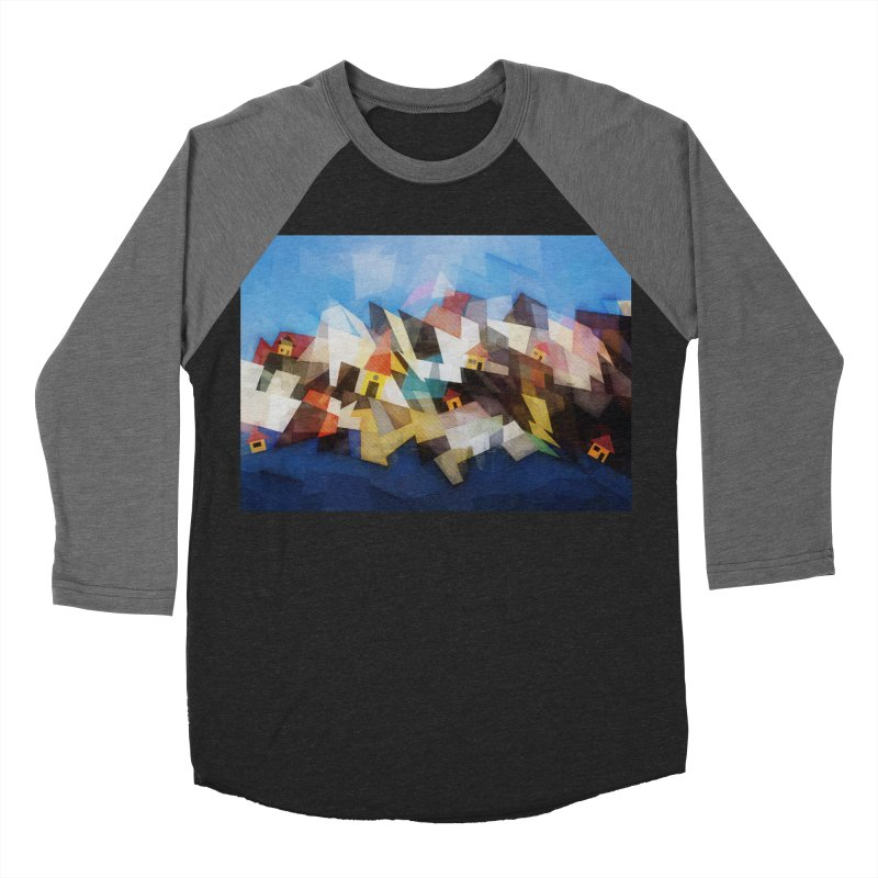 Little city Men's Baseball Triblend Longsleeve T-Shirt by fruityshapes's Shop