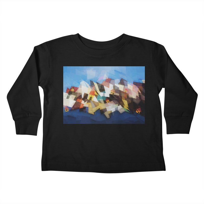 Little city Kids Toddler Longsleeve T-Shirt by fruityshapes's Shop