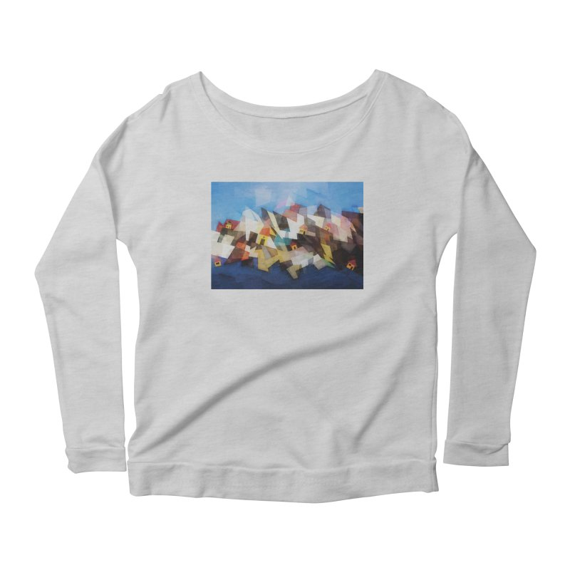 Little city Women's Scoop Neck Longsleeve T-Shirt by fruityshapes's Shop