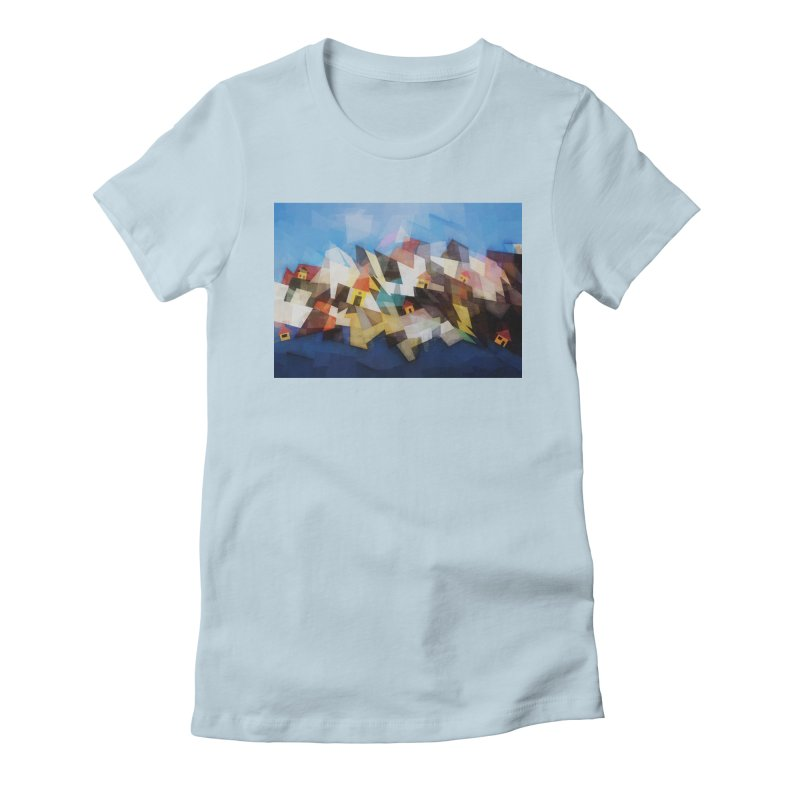 Little city Women's Fitted T-Shirt by fruityshapes's Shop