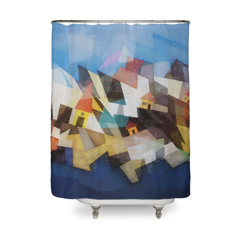 Little city Home Shower Curtain by fruityshapes's Shop