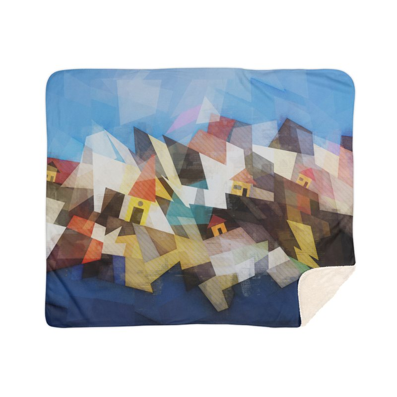 Little city Home Sherpa Blanket Blanket by fruityshapes's Shop