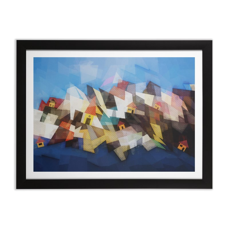 Little city Home Framed Fine Art Print by fruityshapes's Shop