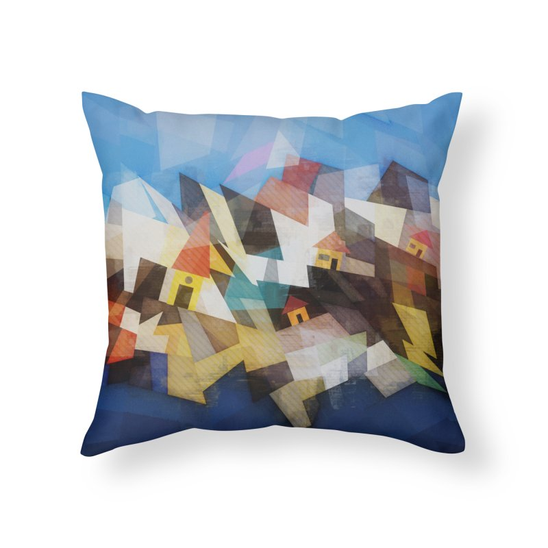 Little city Home Throw Pillow by fruityshapes's Shop