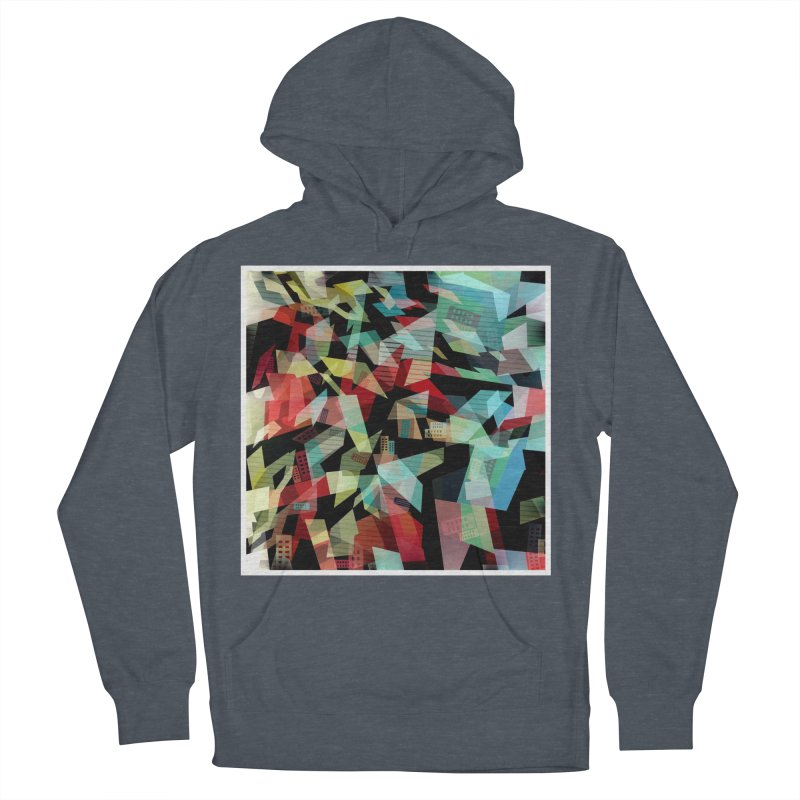 Abstract city in the mirror Women's French Terry Pullover Hoody by fruityshapes's Shop
