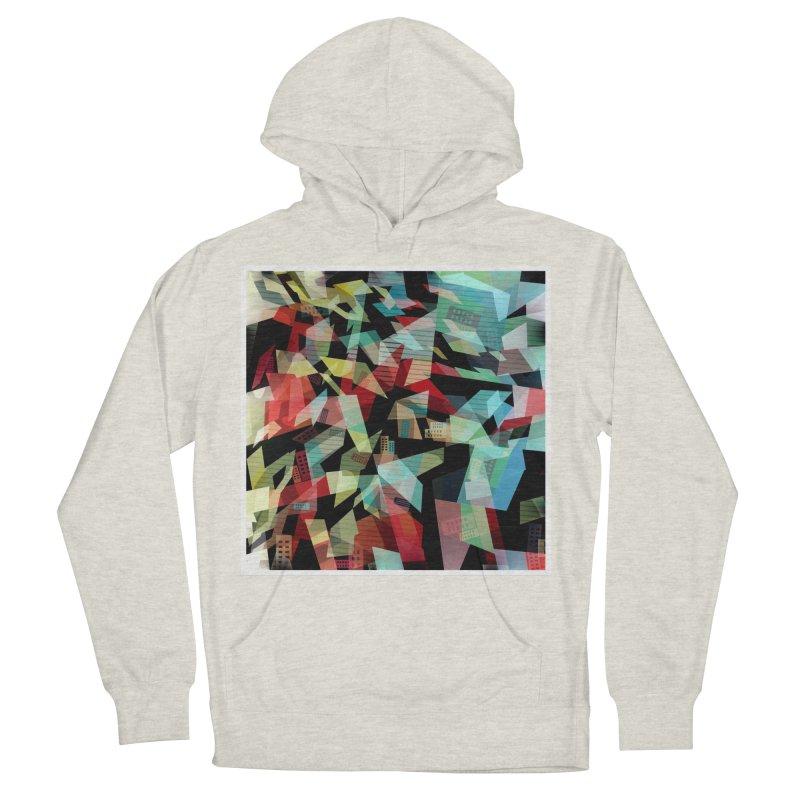 Abstract city in the mirror Men's French Terry Pullover Hoody by fruityshapes's Shop