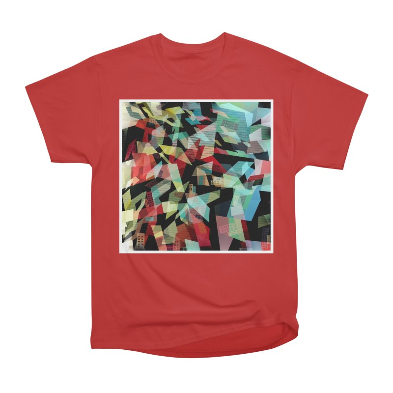 Abstract city in the mirror Men's Heavyweight T-Shirt by fruityshapes's Shop