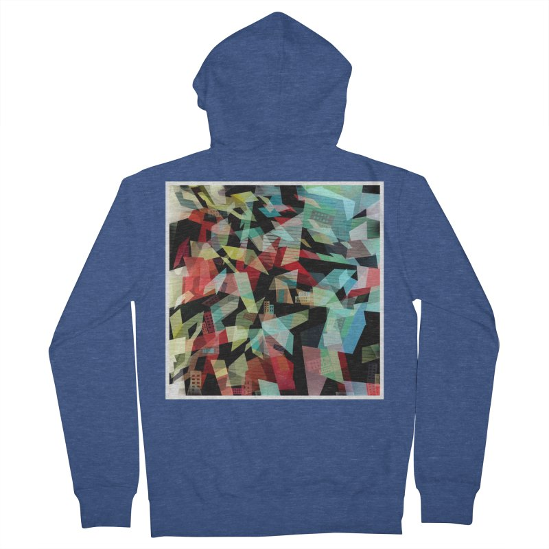 Abstract city in the mirror Women's French Terry Zip-Up Hoody by fruityshapes's Shop