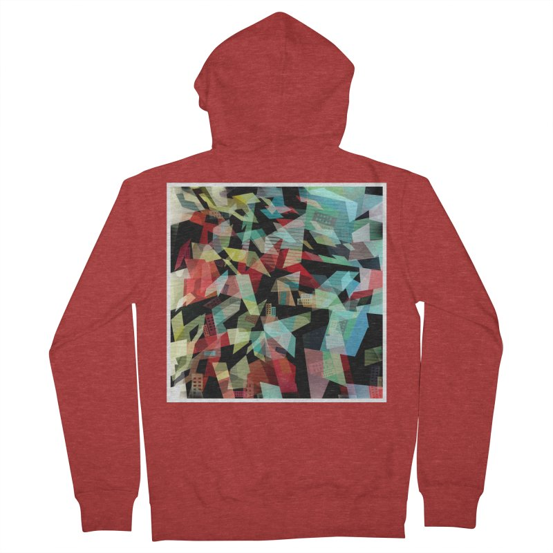 Abstract city in the mirror Men's French Terry Zip-Up Hoody by fruityshapes's Shop