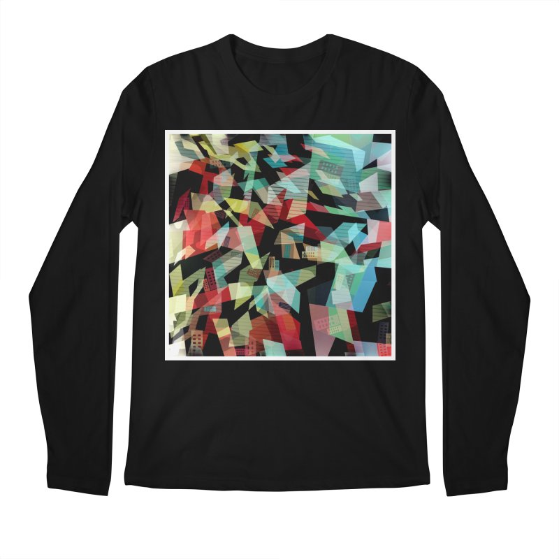 Abstract city in the mirror Men's Regular Longsleeve T-Shirt by fruityshapes's Shop
