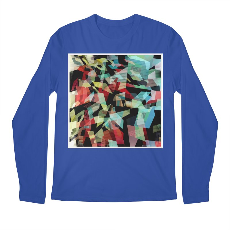 Abstract city in the mirror Men's Longsleeve T-Shirt by fruityshapes's Shop