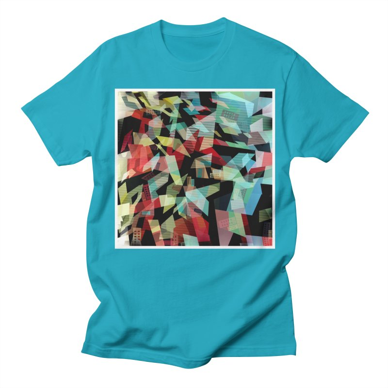 Abstract city in the mirror Men's Regular T-Shirt by fruityshapes's Shop