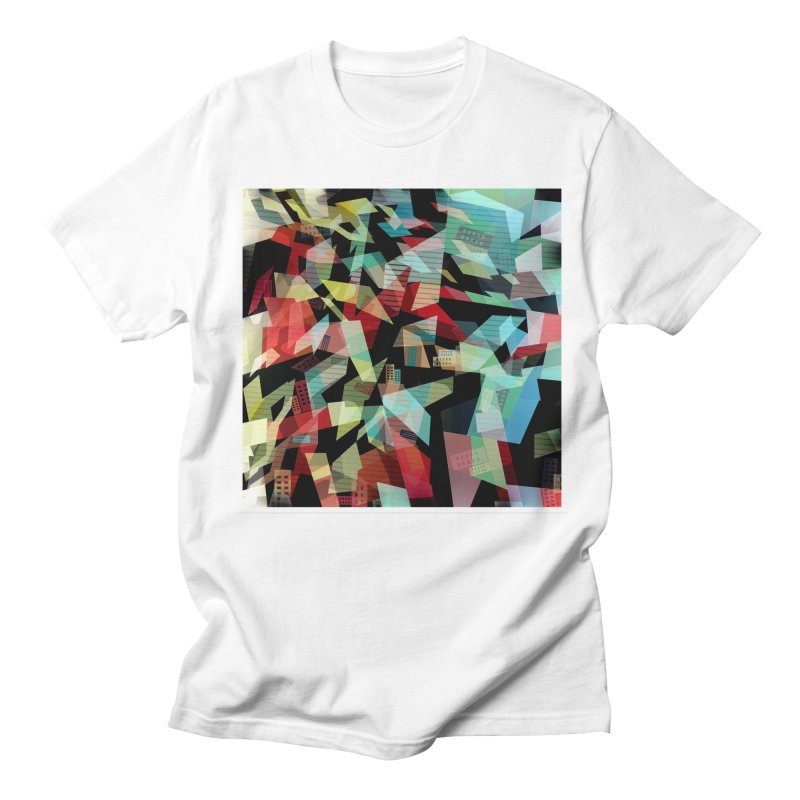 Abstract city in the mirror Women's Regular Unisex T-Shirt by fruityshapes's Shop