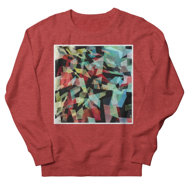 Abstract city in the mirror Women's French Terry Sweatshirt by fruityshapes's Shop