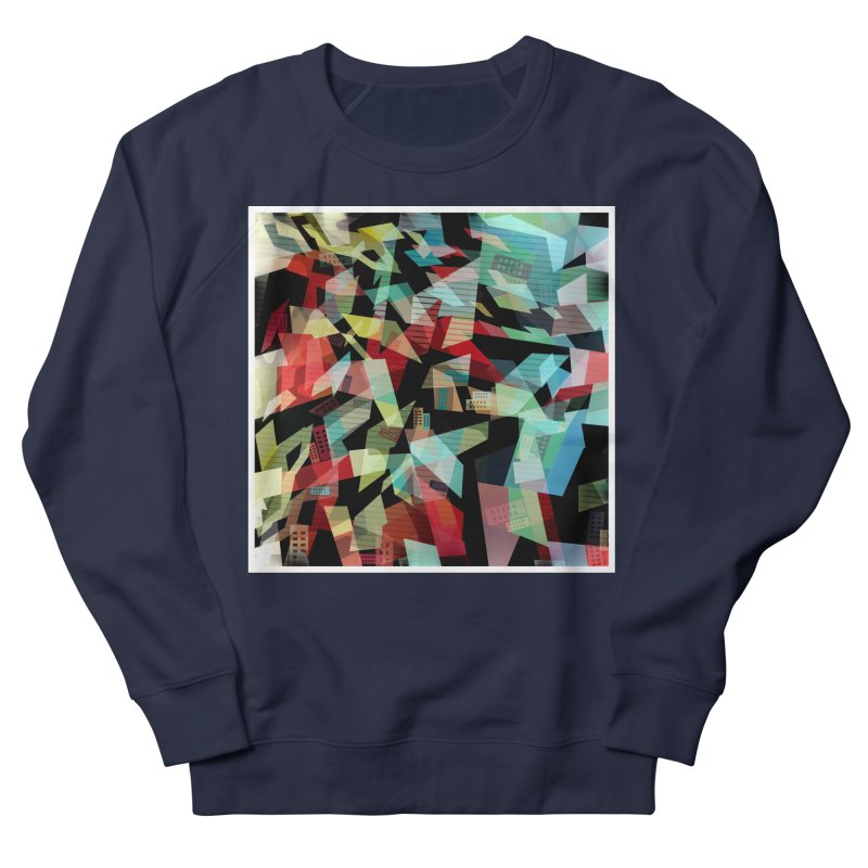 Abstract city in the mirror Men's French Terry Sweatshirt by fruityshapes's Shop