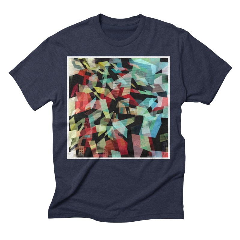 Abstract city in the mirror Men's Triblend T-Shirt by fruityshapes's Shop