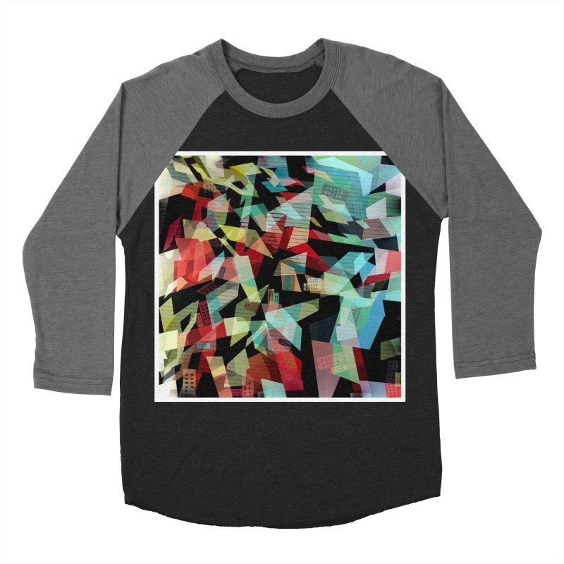 Abstract city in the mirror Men's Baseball Triblend T-Shirt by fruityshapes's Shop