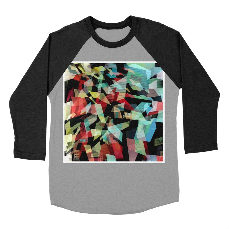 Abstract city in the mirror Men's Baseball Triblend Longsleeve T-Shirt by fruityshapes's Shop