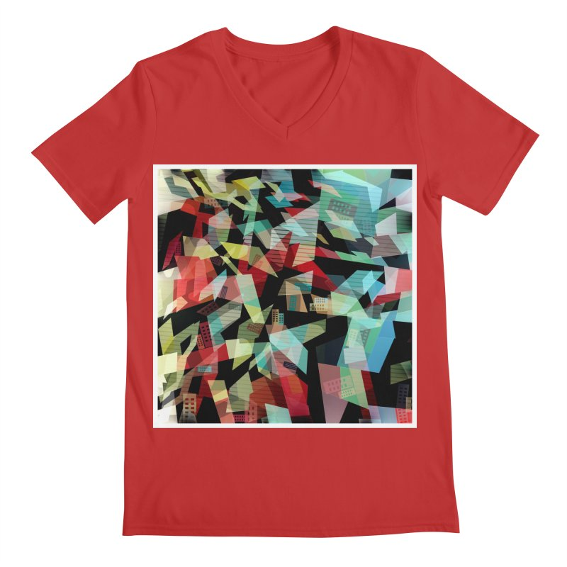 Abstract city in the mirror Men's Regular V-Neck by fruityshapes's Shop