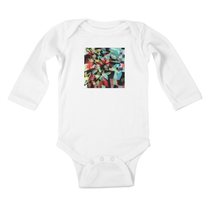 Abstract city in the mirror Kids Baby Longsleeve Bodysuit by fruityshapes's Shop