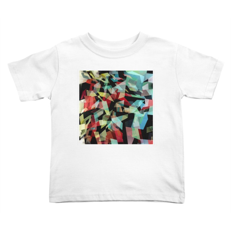 Abstract city in the mirror Kids Toddler T-Shirt by fruityshapes's Shop