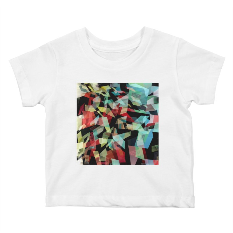 Abstract city in the mirror Kids Baby T-Shirt by fruityshapes's Shop