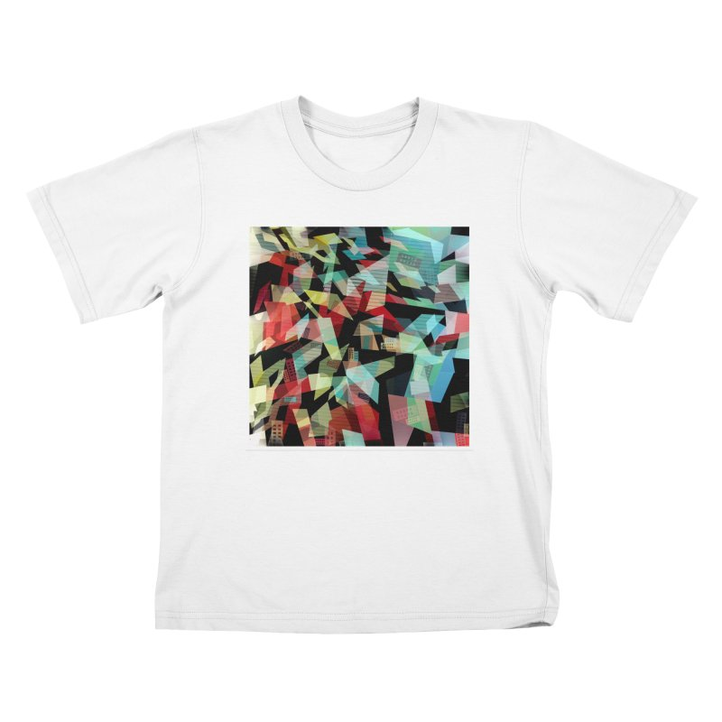 Abstract city in the mirror Kids T-Shirt by fruityshapes's Shop