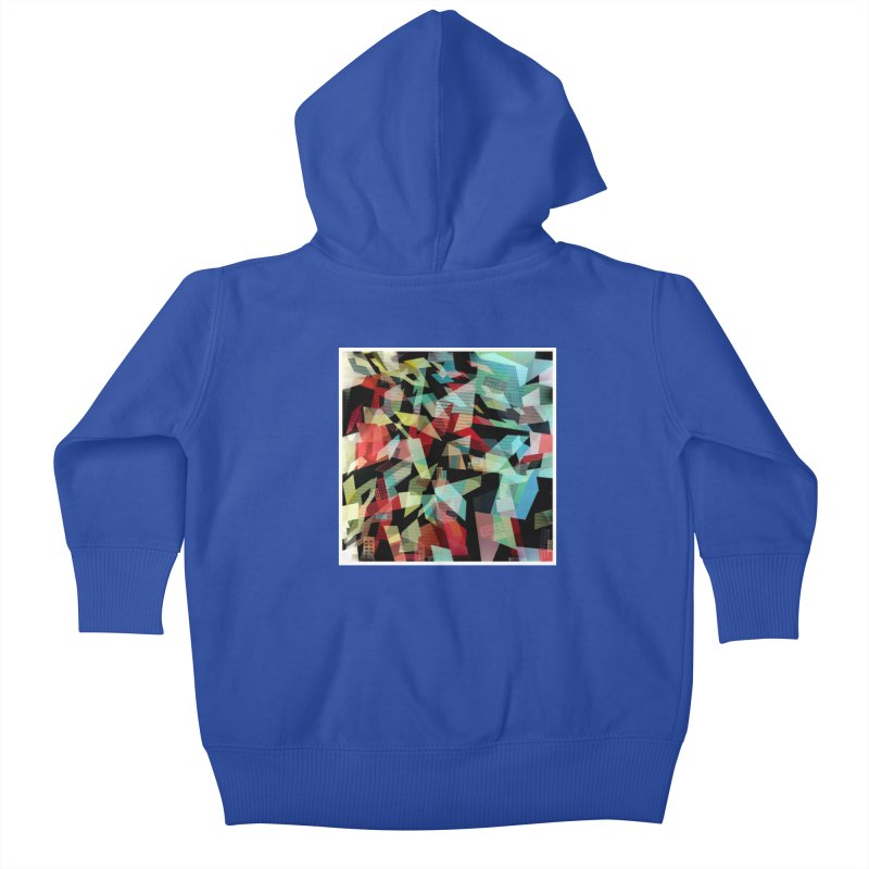 Abstract city in the mirror Kids Baby Zip-Up Hoody by fruityshapes's Shop