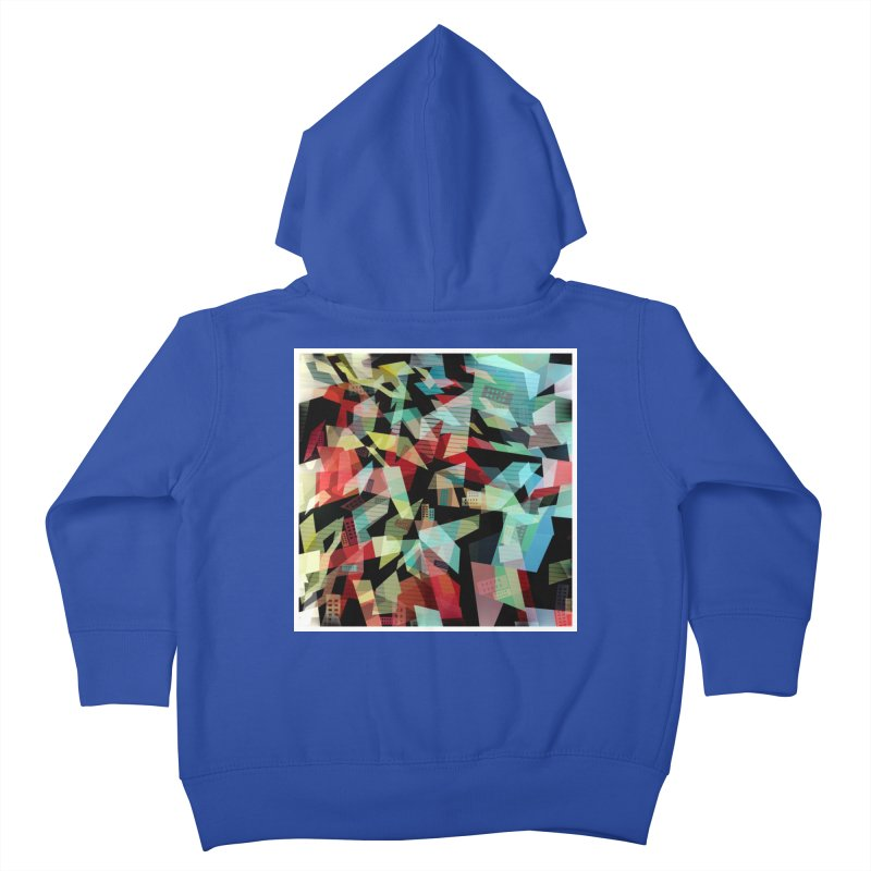 Abstract city in the mirror Kids Toddler Zip-Up Hoody by fruityshapes's Shop