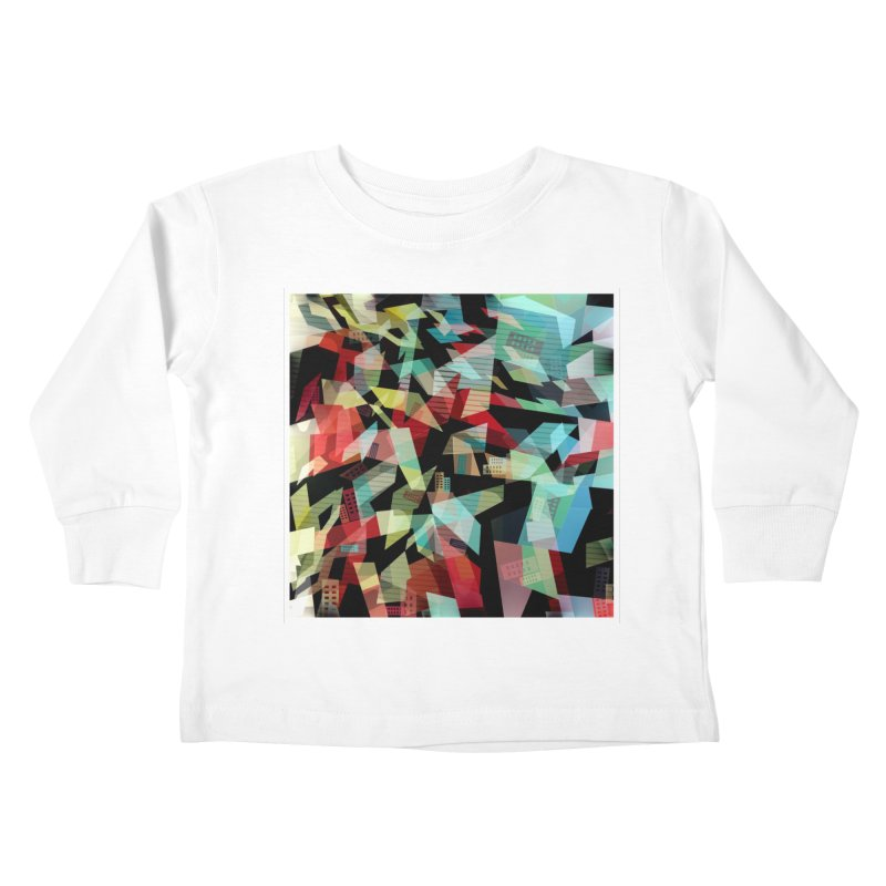 Abstract city in the mirror Kids Toddler Longsleeve T-Shirt by fruityshapes's Shop