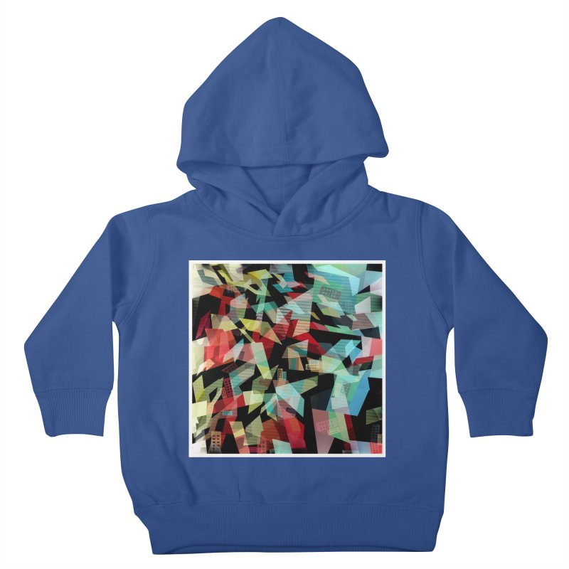 Abstract city in the mirror Kids Toddler Pullover Hoody by fruityshapes's Shop