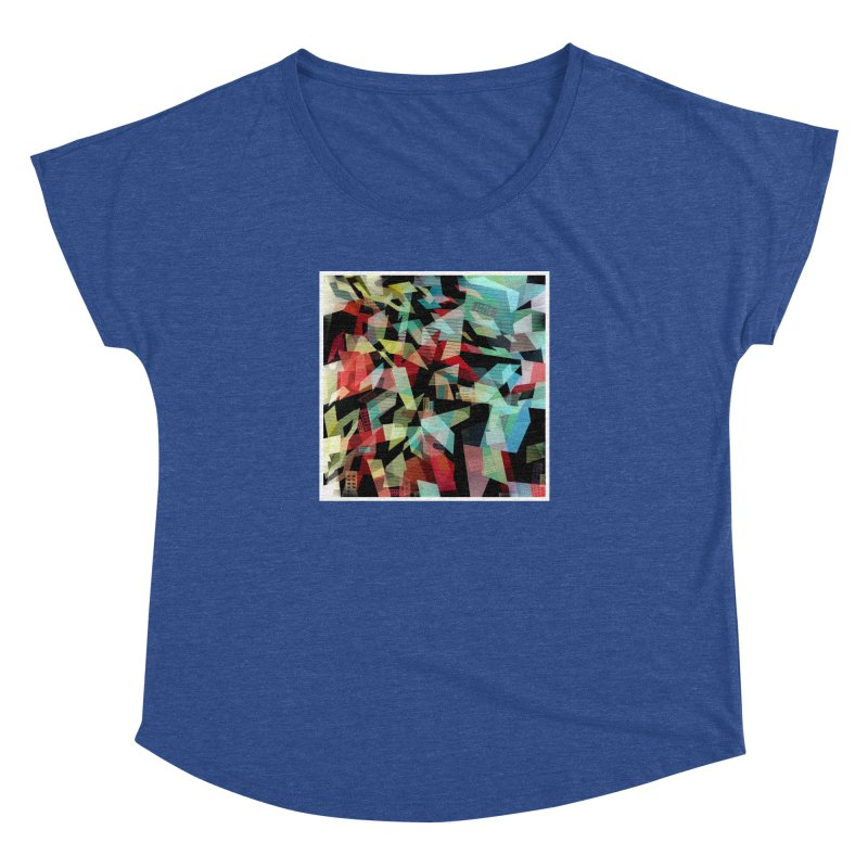 Abstract city in the mirror Women's Dolman Scoop Neck by fruityshapes's Shop
