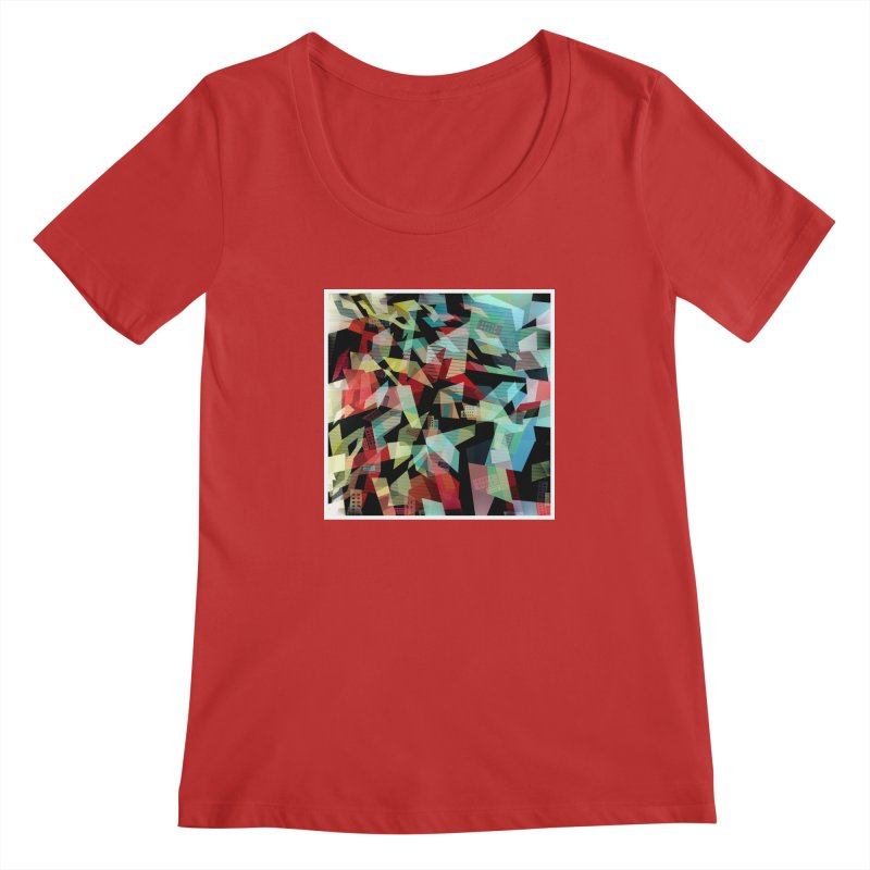 Abstract city in the mirror Women's Regular Scoop Neck by fruityshapes's Shop