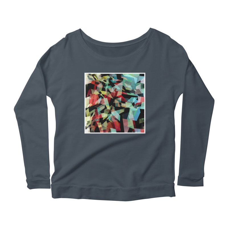 Abstract city in the mirror Women's Scoop Neck Longsleeve T-Shirt by fruityshapes's Shop