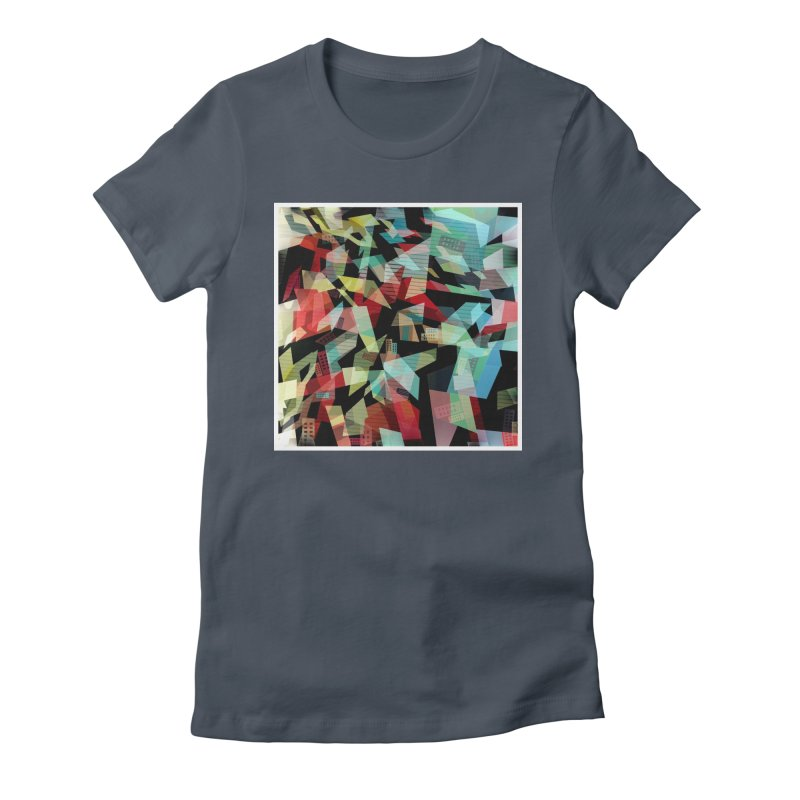 Abstract city in the mirror Women's Fitted T-Shirt by fruityshapes's Shop