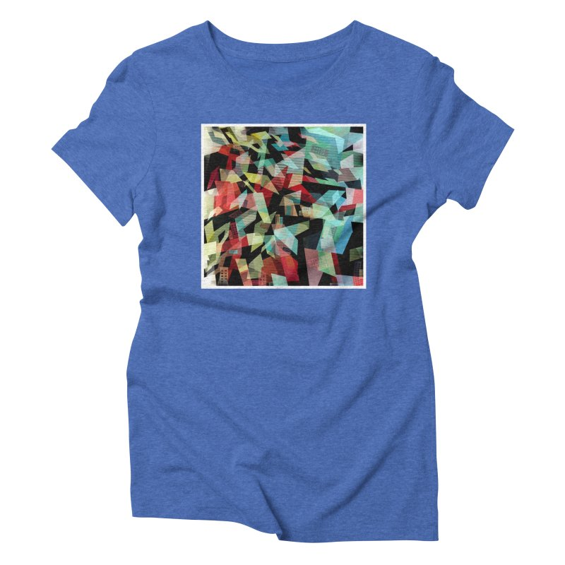 Abstract city in the mirror Women's Triblend T-Shirt by fruityshapes's Shop