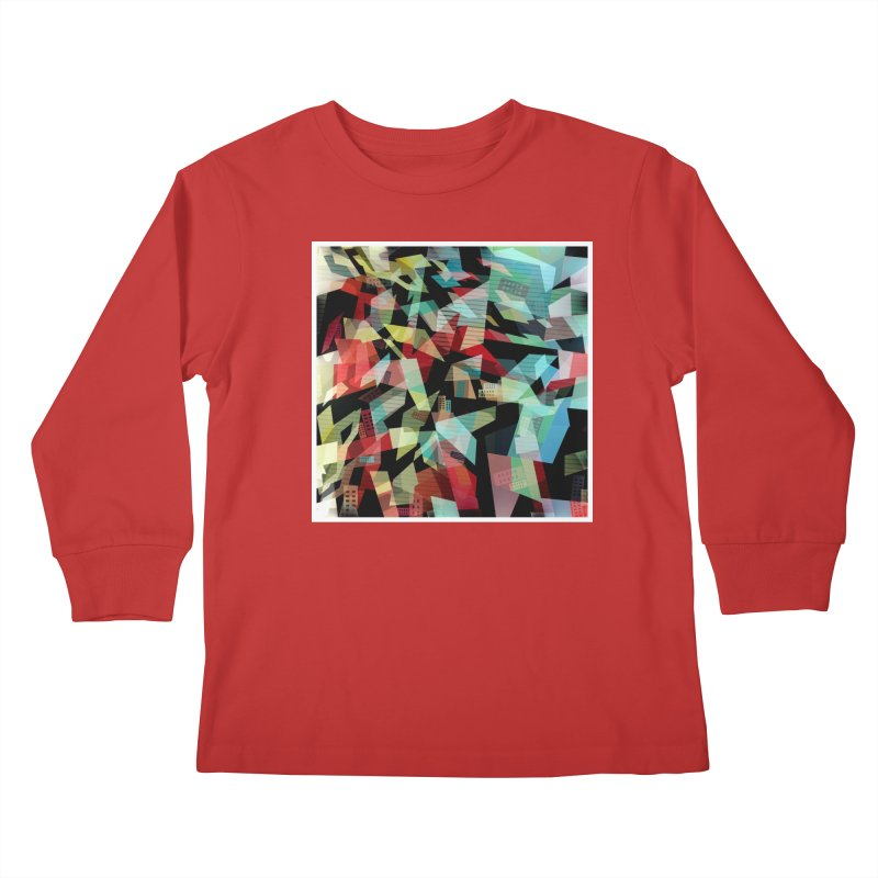 Abstract city in the mirror Kids Longsleeve T-Shirt by fruityshapes's Shop
