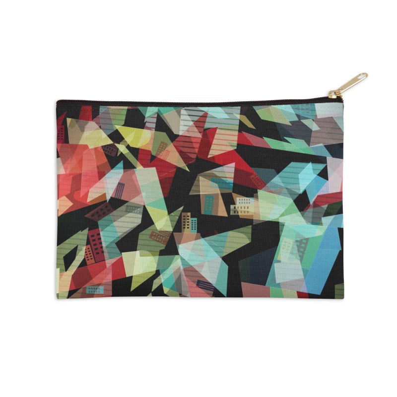 Abstract city in the mirror Accessories Zip Pouch by fruityshapes's Shop