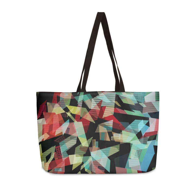 Abstract city in the mirror Accessories Weekender Bag Bag by fruityshapes's Shop