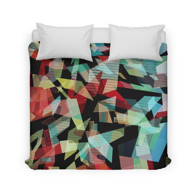 Abstract city in the mirror Home Duvet by fruityshapes's Shop