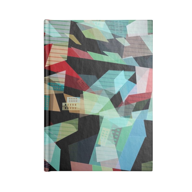 Abstract city in the mirror Accessories Lined Journal Notebook by fruityshapes's Shop