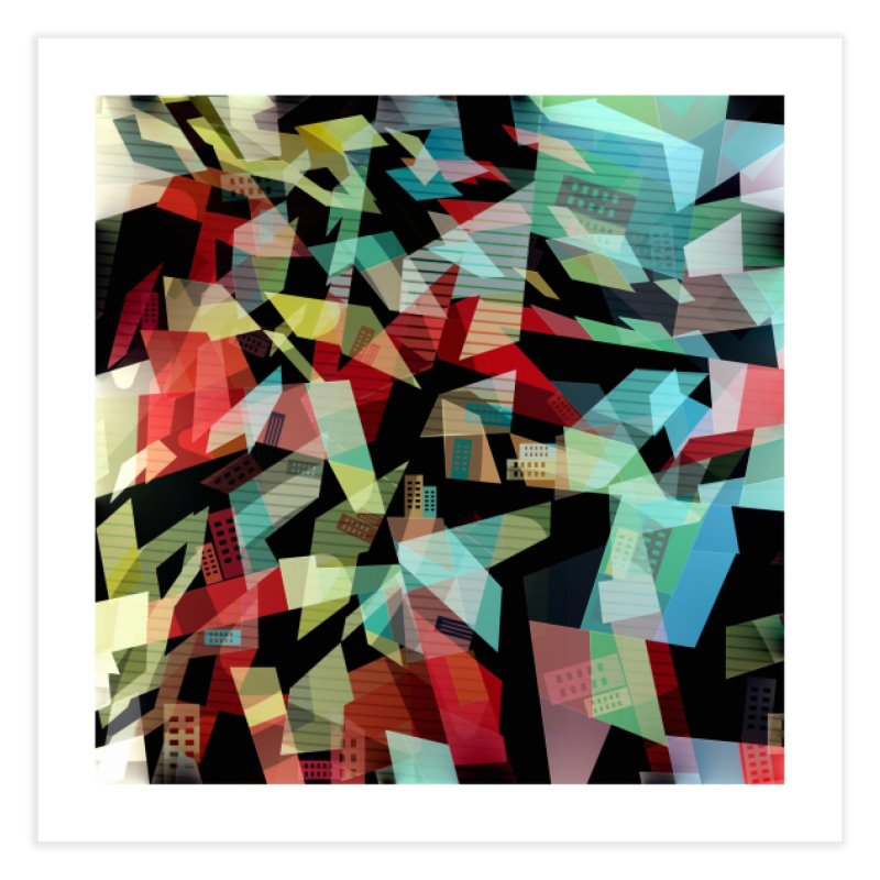 Abstract city in the mirror Home Fine Art Print by fruityshapes's Shop